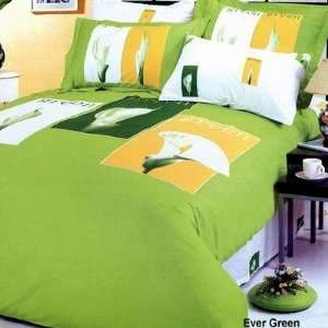 Vele Evergreen Green   Duvet Cover Bed in Bag   Full / Queen Bedding