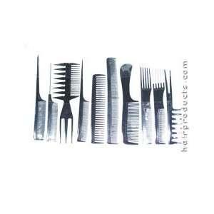 ONYX 10 Piece Hair Comb Set (Model 00315) Beauty