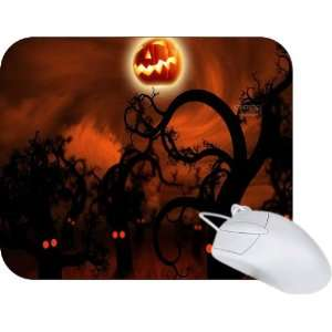 Rikki Knight Halloween Spooky Trees Silhouette Mouse Pad