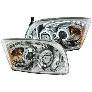 Anzo USA 121213 Dodge Caliber Projector Chrome Clear HalosHeadlight