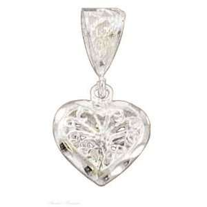 Silver Filigree Heart Center Flower Charm: Arts, Crafts & Sewing