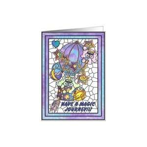 Dogs Hot Air Balloon Magic Journey Card: Health & Personal