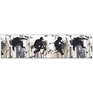 Peel & Stick By Just Kids KD1822BD Skateborder Borders