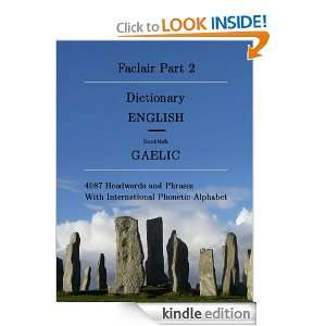 Faclair Part 2 Dictionary English / Scottish Gaelic (Faclair