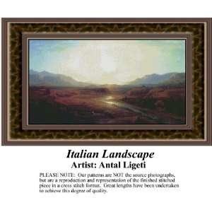 Italian Landscape, Counted Cross Stitch Patterns PDF