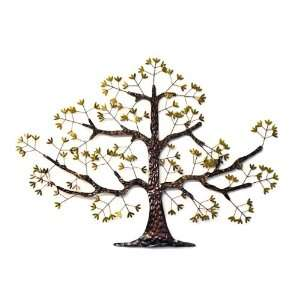 ... Large Oak Tree Metal Wall Art Abstract Sculpture New: Home ...