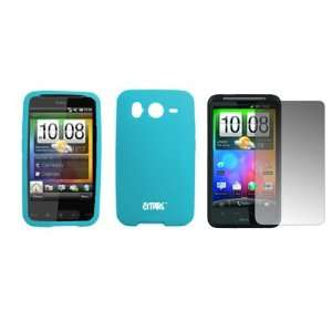 EMPIRE Light Blue Silicone Skin Cover Case + Screen
