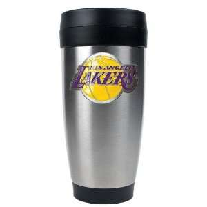 Los Angeles Lakers NBA Stainless Steel Travel Tumbler  Primary Logo