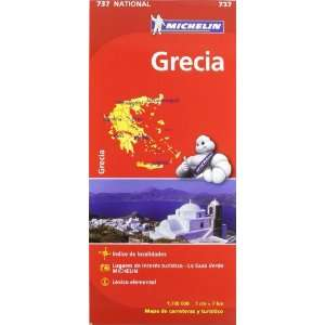Grecia. Mapa national 737 (9782067172043) Michelín