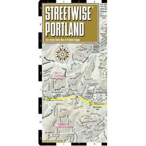 Streetwise Portland Map   Laminated City Center Street Map of Portland