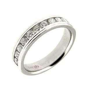 1.10 ct White Gold Diamond Mens Wedding Band Ring 14 K Jewelry