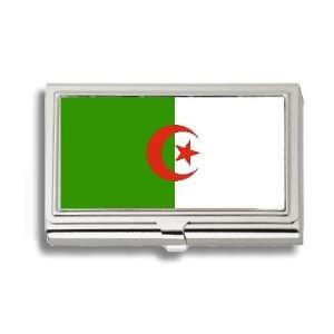 Algerian Algeria Flag Business Card Holder Metal Case