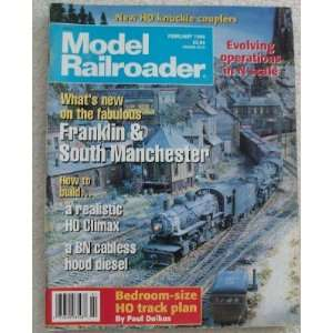 Model Railroader Magazine. February 1996. Single Issue
