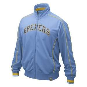 Milwaukee Brewers Nike Cooperstown Track Jacket Sports
