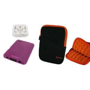 3n1 Super Bubble Neoprene Sleeve Case (Black / Orange) / TPU Flex Skin