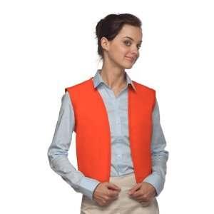 DayStar 740NP No Pocket Uniform Vest Apron   Orange