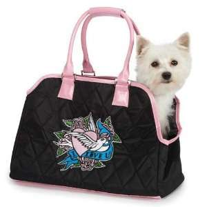 Love U Small Pet Carrier in Black   ZA001 15 17: Pet Supplies