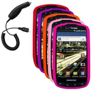 Pink, Hot Pink) & Car Charger for Samsung Droid Charge SCH i510 Cell