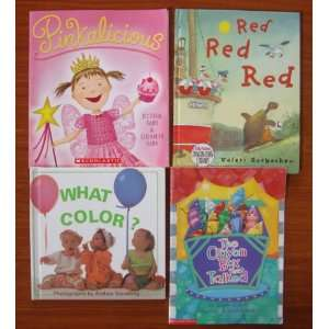 Colors (Teacher Unit) Set of 4 Childrens Picture Books (Pinkalicious