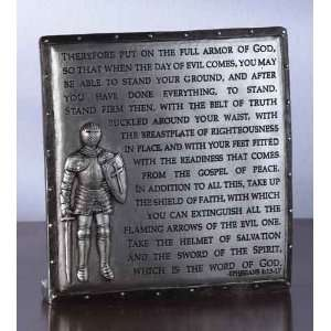 Armor of God with Bible Verse Religious Desk Plaque Decorations 4.75