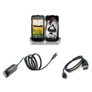 HTC One S (T Mobile) Premium Combo Pack   Black Ace of Spades Poker