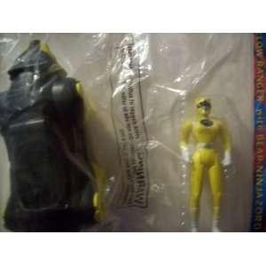 Morphin Power Rangers the Movie Yellow Ranger with Bear Ninja Zord