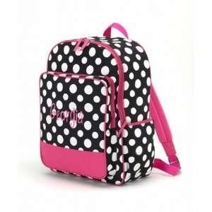 Polkadot Backpack Hot Pink Black and White Dots  Sports