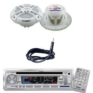 Pyle Marine Radio Receiver, Speaker and Cable Package   PLCD3MR AM/FM