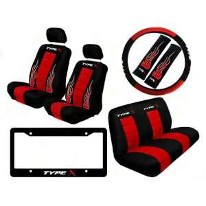 Type X Auto Interior Racing Set   Universal Fit Low Back Bucket Seat