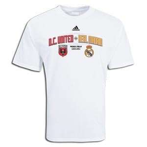 adidas Real Madrid vs DC United Tour 2009 Soccer T Shirt