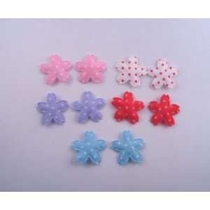 Padded Polka Dot Cherry Blossom Applique25 Pieces (5