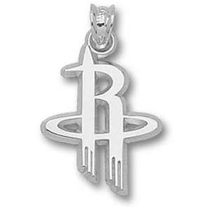 Houston Rockets NBA Logo 5/8. Pendant (Silver)  Sports