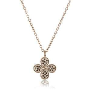 Beck Designs Gili 18k Rose Gold Plated Mini Clover Necklace: Jewelry