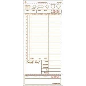 printable guest checks