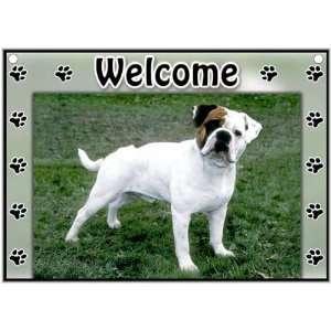 Olde English Bulldog Welcome Sign Patio, Lawn & Garden