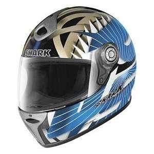 Shark RSF3 TRIAX BLK_BLU_WHITE XS MOTORCYCLE Full Face Helmet