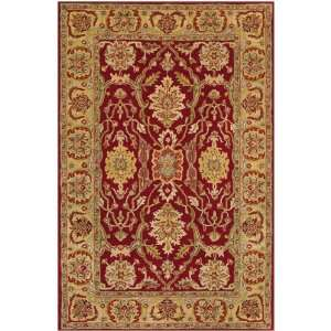 Waterloo Rug 39 Round Red/gold