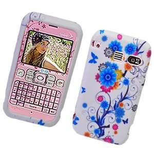 Blue Flower Butterfly Design Soft Silicone Skin Tpu Gel Cover Case