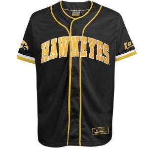 Iowa Hawkeyes Black Strike Zone Baseball Jersey Sports