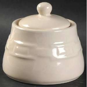 Ivory Sugar Bowl & Lid, Fine China Dinnerware Kitchen & Dining