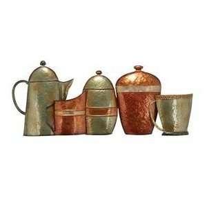 New Tea Kettle Pots Kitchen Metal Wall Art Decor Sculpture 34w, 14h