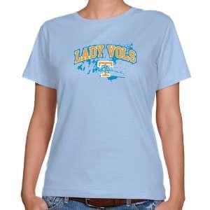 NCAA Tennessee Lady Vols Ladies Light Blue Splatter Classic Fit T