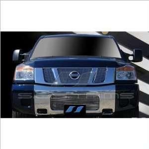 SES Trims Chrome Billet Upper Grille 08 11 Nissan Titan Automotive