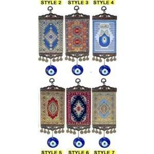Turkish Carpet Wall Hanging with Evil Eye Amulet Kitchen