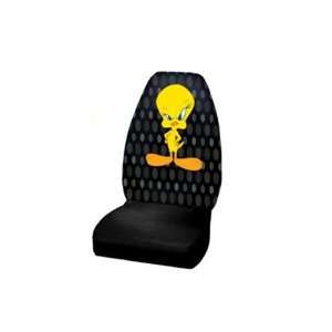 com Front Seat Cover   Looney Tunes Tweety Bird Attitude Automotive