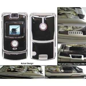 Motorola V3 Razr Black with Swarovski Rhinestone Gel Skin Cell Phones