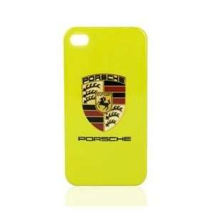 Designer Porsche Style Iphone 4 Hard Shell Case (Yellow