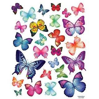 Wall Sticker Decal   Vivid Colorful Butterflies by Butterfly