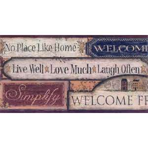 Country Sign Wallpaper Border: Home Improvement