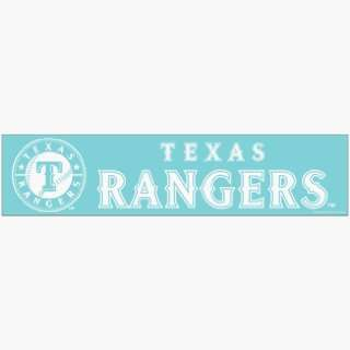 MLB Texas Rangers 4x16 Die Cut Decal